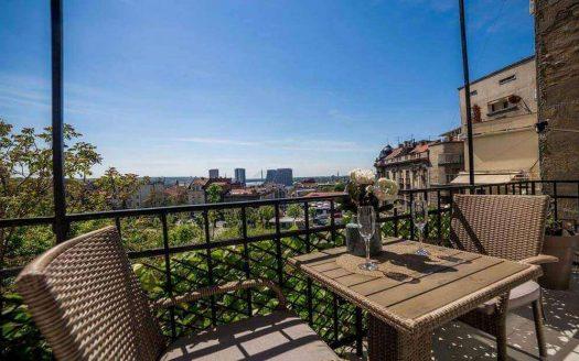 Apartmani na Terazijama Dvosoban Stan City Dimond - Pogled sa terase