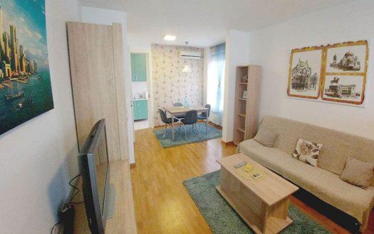 apartment blue living room